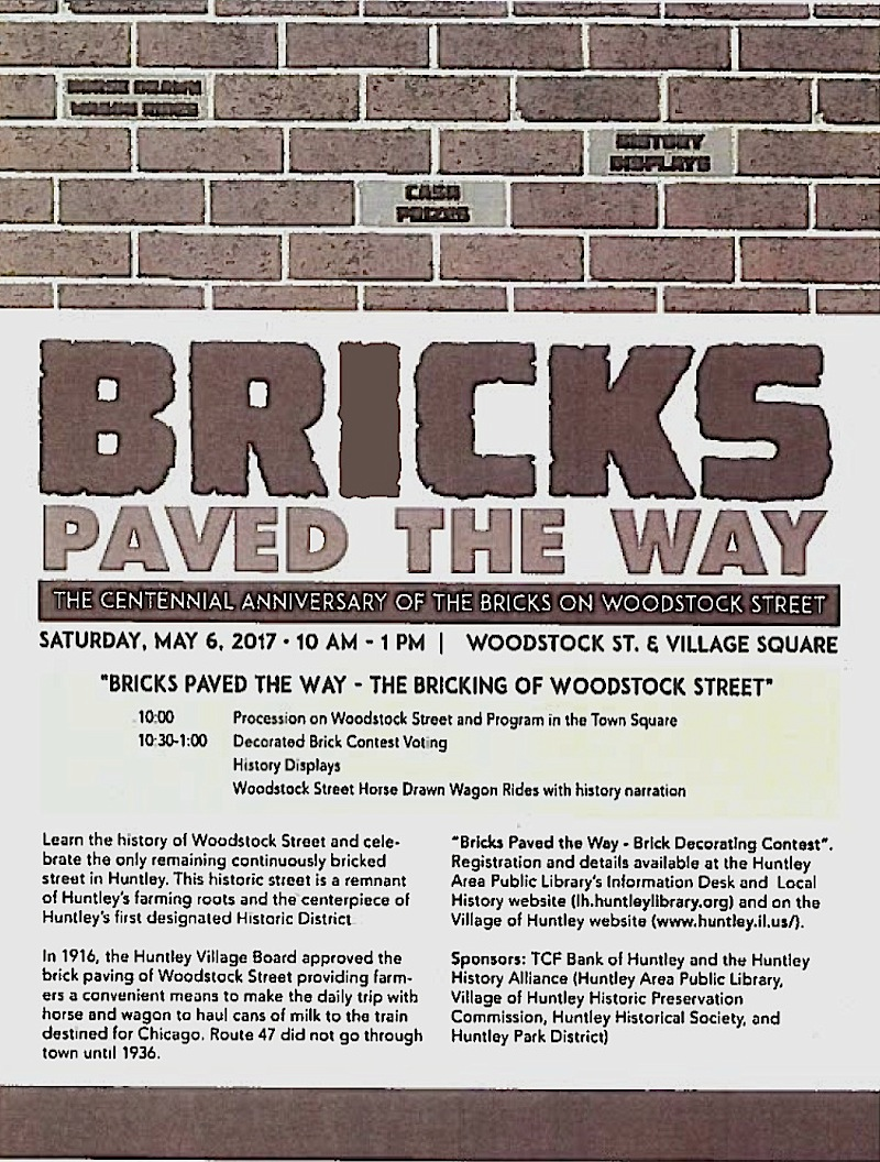 Illinois mchenry county huntley - Bricks Paved The Way Huntley Mchenry County Historical Society And Museum Mchenry County History