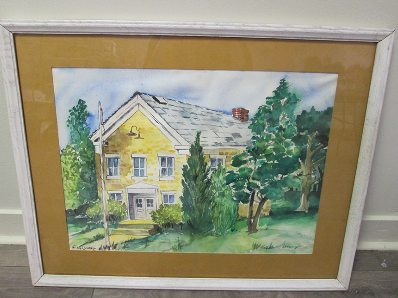 Painting of Greenwood school- front